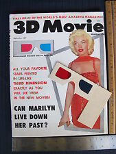 MARILYN MONROE Cover 3-D Movie Magazine September 1953 Vol 1 No 1 #1 First Issue