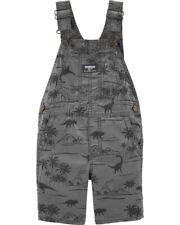 OSHKOSH BGOSH Infant Boys Gray Dinosaur Shortalls NWT...
