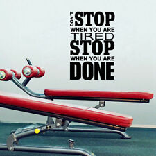 Don't Stop Inspirational Quotes Wall Stickers Gym Office Home Motivational Decal