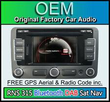 Seat RNS 315 sat nav car stereo CD player, DAB radio, Bluetooth Handsfree