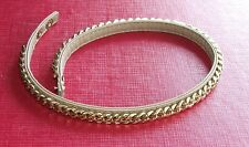 Gold tone leather necklace leather collar, in great condition 40 cm lovely