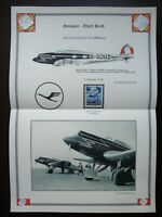 Germany Nazi 1936 Stamp Airplane 10th anniv. of the Lufthansa air service WWII T