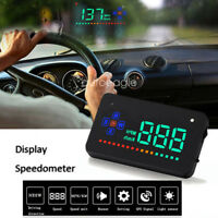 "3.5"" Car HUD Digital A2 Overspeed Alarm Head Up Display Speedometer Dashboard"