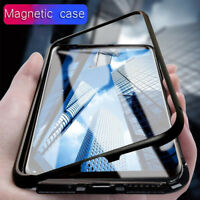 Magnetic Case For Samsung Galaxy S8 S9 S10 Plus Note 8 9 S7 Tempered Glass Cover