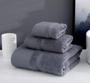 Luxurious 3-Piece Towels Set Square Towel & Towel & Bath Towel 100% Cotton Soft