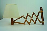 60er Vintage Scherenlampe Kiefer Danish Modern Wandlampe translandia Lampe 1/2