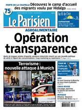 Le PARISIEN n° 22357 du Mardi 23/07/2016 édition PARIS 75 * TRANSPARENCE