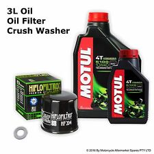 Service Oil Change kit MOTUL 5100 Hiflo Oil Filter for FZ6N FZ6S FZ8n FZ8S XJ6N