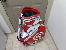 CLEVELAND GOLF Red White STAFF GOLF BAG 6 Way Top