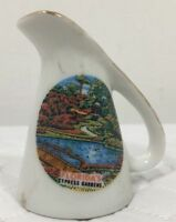 Vintage Rare Florida Cypress Gardens (Now Defunct) Pitcher/Vase Souvenir