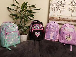 ❤NEW Girls SMIGGLE Backpack School Bag Rucksack Fluffy rabbit Cat Unicorn kids