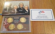 2007 2008 2009 U.S. Mint 12 Presidential Proof Dollar with Box & Coa
