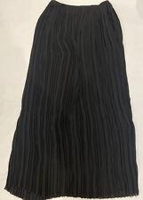 Vince Pleated Midi Black Skirt, Size 4