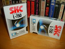2 Brand New Shrink Wrapped Beta L750 Video Tapes for Betacord - Betamax Vcr's!