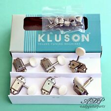 MECANIQUES KLUSON Deluxe3x3 WhiteButton Gibson VINTAGE JUNIOR NICKEL Tuner MJ33P