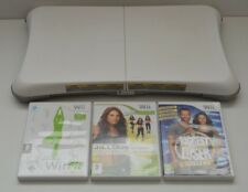 Nintendo White Wii Fit Balance Exercise Board Game Bundle Fitness Biggest Loser