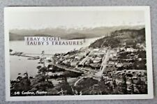 Vintage Cordova Alaska Real Photo Postcard Rppc 245 Town Boat Water Mountain Us