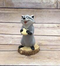 Retired Disney Meeko Pocahontas Raccoon Ceramic Porcelain Figure Statue Display