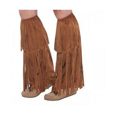 American Indian Hippie Faux Leather Leg Boot Covers Sexy Women Halloween Costume