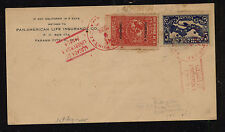 Panama 256-57 Lindbergh stamps on cover first day Kl1101