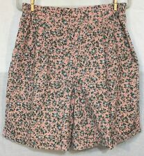 SUPER CUTE FLORAL CORDUROY CUFFED SHORTS VINTAGE by RUSS STUDIO size 16