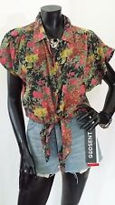 Ladies Vintage 90s Floral Oversize Shirt TOP Blouse Jacket Festival Boho Hippie