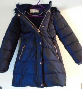 Ted Baker Girls Navy Blue Padded Coat Age 10 Years