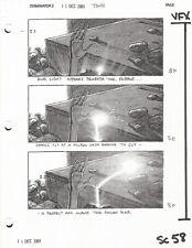 Terminator 3 original production used 2001 storyboard sheet COA included