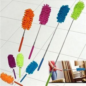 Soft Extendable Handle Car Cleaning Tools Telescopic Microfiber Duster Home Tool