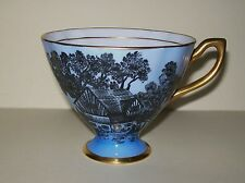 VINTAGE 'TAYLOR & KENT' ORPHAN CHINA CUP (purple/black/gold country house)