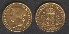 1864 Spanish Philippine 4 Pesos Reyna ISABEL II Filipinas GOLD Coin Soldered