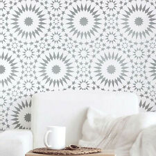 Ambrosia Tile Moroccan Wall Stencil - DIY Home Decor - Reusable Stencil