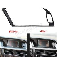 Carbon Fiber Mittel Konsole Blende Rahmen Verkleidung Für Audi A4 B8 A5