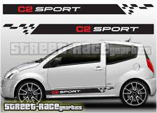 Citroen C2 012 side racing stripes graphics stickers decals vinyl