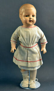 """EARLY 16"""" ANTIQUE COMPOSITION BABY DOLL"""