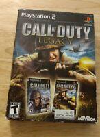 Call of Duty: Legacy (Sony PlayStation 2, 2007)CIB. FREE SHIPPING.