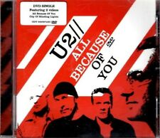 U2 All because of you  RARE 3 TRACK DVD  NEW - NOT SEALED