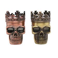 King Skull Shape Metal Tobacco Crusher Smoke Herbal Herb Grinder Rolling Machine