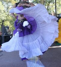 Purple 3-Tone Wrap Skirt Gypsy Tribal Fusion Belly Dancel ATS