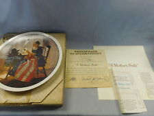 1980 Norman Rockwell Mothers Day Collectors Plate in original box with Coa