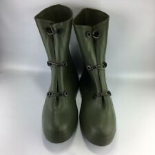 New ListingNib Lfi Green Rubber Overboot Overshoe Chemical Rain Nbc Military Surplus Sz 7