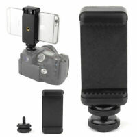 1/4 Inch Phone Clip Holder With Flash Hot Shoe Screw Adaptateur Trépied Mount