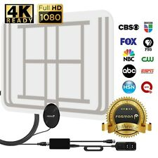 Ultra Thin Flat Indoor Digital HDTV Amplified HD TV Transparent Antenna 60 Mile