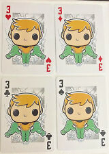 AQUAMAN Set of 4 Funko Pop DC Comic Playing Cards - Ace, Queen, King, Jack
