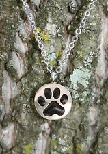 Paw Print Cremation Necklace Jewelry Pendant Urn for Ashes Pet Dog Cat Memorial