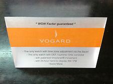 Placa Plaque VOGARD Official Dealer - WOW Factor guaranteed - watch montre reloj
