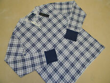 NEW NWT $98 RALPH LAUREN POLO MENS SHIRT SIZE LARGE L G BLUE PLAID LONG SLEEVE