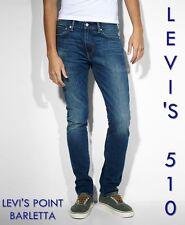 Levis 510 jeans uomo Skinny Fit W29 30 31 32 38 Pantaloni Levi's Elasticizzati