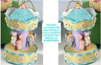 BOMBONIERA GIOSTRA GIOSTRINA CAVALLI con CARILLON ELETTRONICO CELESTE CM.9 GG38