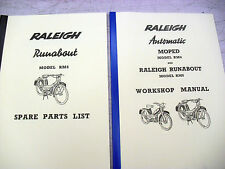 Raleigh Moped / RM6 / Runabout / Workshop manual+Spare parts list